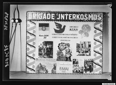 Wandzeitung der Brigade Interkosmos, Foto 1978