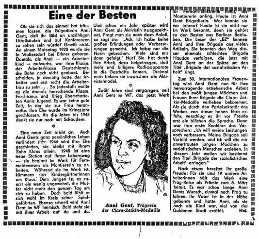 Anni und die 'Gent-Mädels' – Frauen im WF, Folge 10