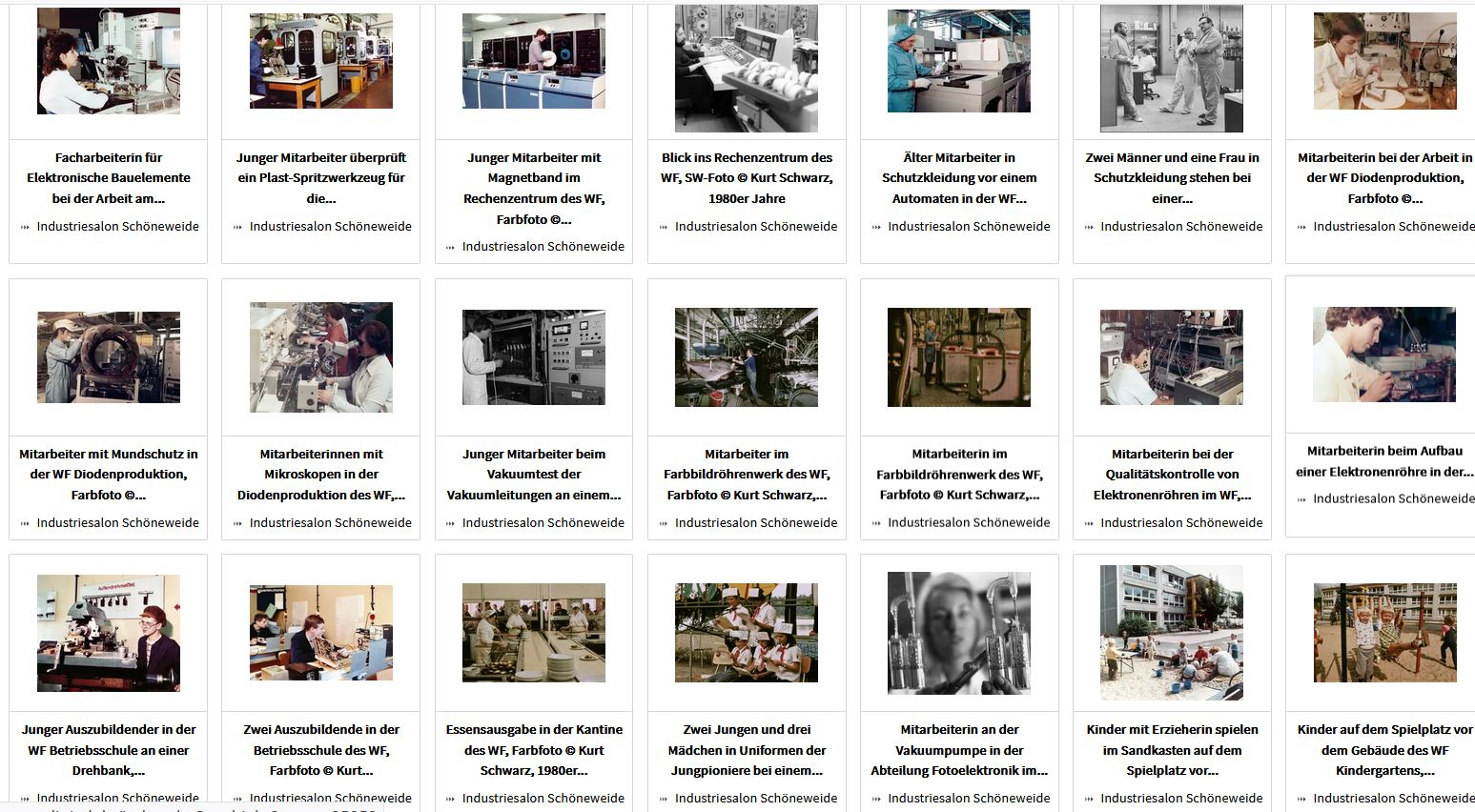 Über 100 Fotos von Kurt Schwarz aus dem WF jetzt online