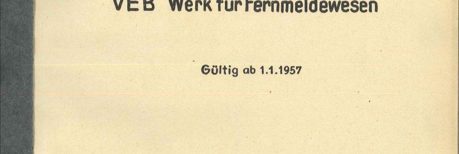Quellen zur Geschichte des WF – Folge 6 – Abteilungsverzeichnisse des WF