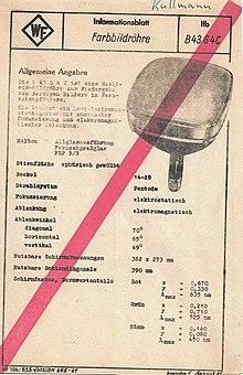 Röhren für die Republik aus dem Werk für Fernsehelektronik (WF), Folge 49